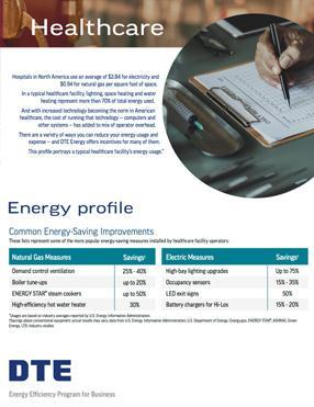 healthcare energy profile